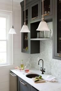 Image of kitchen lights over sink